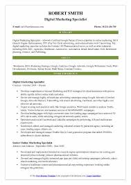 Resume Summary Statement Samples by Marketing Resume Samples Examples And Tips
