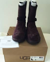 ugg sale size 5 authentic ugg australia ladie s nyla boots in stout size 5