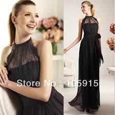 black lace floor length bridesmaid dresses bridesmaid