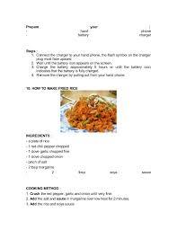 teks prosedur membuat rujak dalam bahasa inggris nasi goreng
