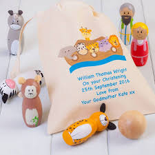 childrens noahs ark skittles and personalised bag by british and