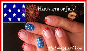4th of july nails easy design for short nails stars and