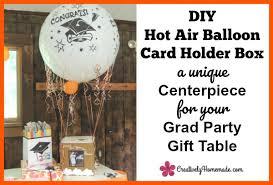 unique graduation card boxes hot air balloon diy graduation card holder box a unique