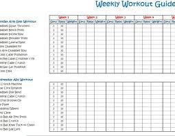 Free Printable Spreadsheets Blank Weekly Workout Calendar Template Calendar 2017 Printable