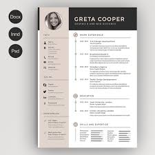 Creative Resume Templates For Microsoft Word Great Example Of A Creative And Modern Resume Template Foe Free