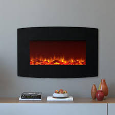 moda flame chelsea 35 in curved wall mounted electric fireplace