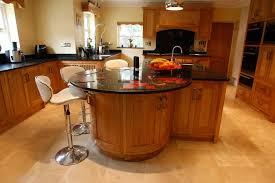 oak kitchen island with breakfast bar kitchen and decor