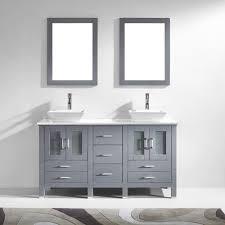 Double Bathroom Vanity 60 Virtu Usa Md 4305 S Gr Bradford 60 In Bathroom Vanity Set