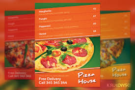 menu flyer template pizza house menu flyer flyer templates creative market