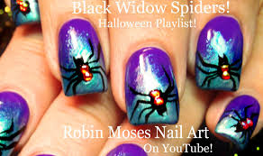 cute halloween nails halloween nails cute black widow spiders nail art design