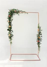 wedding backdrop images copper wedding backdrop frame for flowers garlands the deer