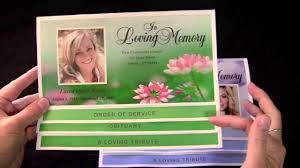 Cheap Funeral Programs Graduated Bottom Fold Templates Youtube