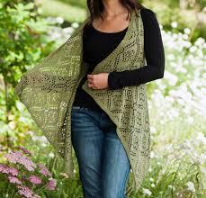 rose trellis lace vest knitting kit knit crochet crochet and yarns