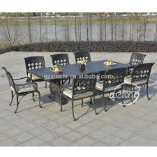mobilier outdoor luxe aggravantes en fonte d u0027aluminium de luxe villa jardin à manger