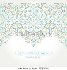 Border Designs For Birthday Cards Vector Ornate Seamless Border Eastern Style Stock Vector 279877568