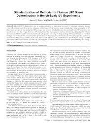 standardization of methods for fluence