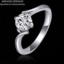 platinum crystal rings images Healthy jewelry women rings real platinum rose gold plated purity jpg