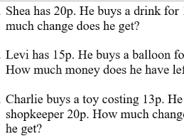 ks1 money word problems differentiated by missmarple30