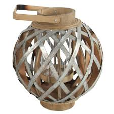 a u0026 b home 11 5 in x 13 in wood and iron decorative lantern