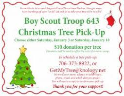 Christmas Tree Pick Up Boy Scout Troop 643 Christmas Tree Pick Up Events Calendar The