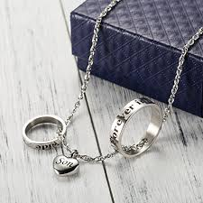 cremation necklaces cremation necklace dual ring no longer by my side forever in my