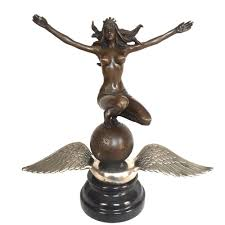 rod rat rod ornament antique radiator cap flying goddess