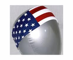 white and blue headband usa flag white blue stripes printed spandex fabric