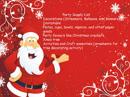 christmas countdown last minute party planning checklist