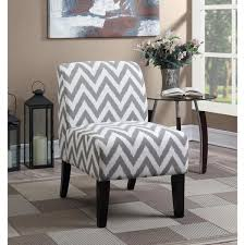Patterned Accent Chair Lyke Home Panama Grey Fabric Chevron Patterned Accent Chair Free