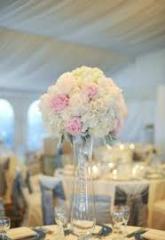 White Roses Centerpieces by Elegant Classic White Hydrangea Pink Rose Centerpiece In Tall