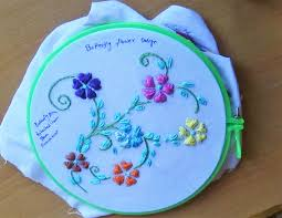 embroidery designs 109 butterfly flower design