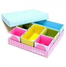 Desk Organizer Box Cell Diy Stationery Makeup Cosmetic Desk Drawer Organizer Storage