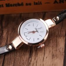 bracelet leather watches images Women 39 s long leather bracelet dress watch quantum deals 4 u jpg