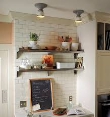 Open Metal Shelving Kitchen by Open Shelves Next To Ceiling Height Cabinet Rework This Idea For