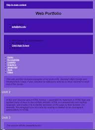 high school web design class mr espinola web design 1 assignments