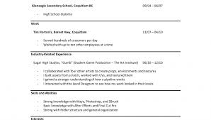 resume for high graduate with little experience sle resume exles for highschool students with no work experience