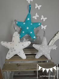 chambre bébé turquoise et gris 3 étoiles à suspendre accrocher bleu turquoise blanc gris
