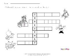 christmas crossword free esl worksheet