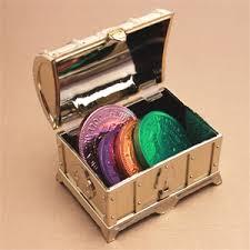 Treasure Chest Favors gold treasure chest favor box 12 pcs unique wedding favor
