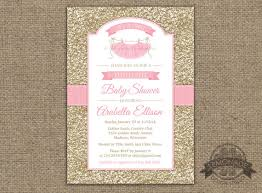 pink and gold baby shower invitations tutu baby shower invitation gold pink baby shower