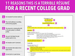 college graduate resumes recent college graduate resume amusing recent college graduate