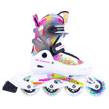 light up inline skates rollerblades worker picola led with light up wheels insportline