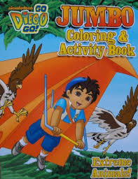 diego 96 coloring activity book extreme animals