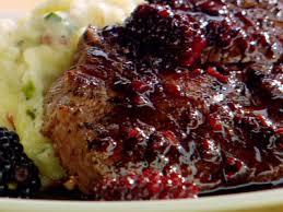 cuisine filet mignon filet mignon with blackberries recipe deen food