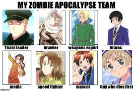 Hetalia Memes - hetalia meme my zombie apocalapse team by megziiwegzii on