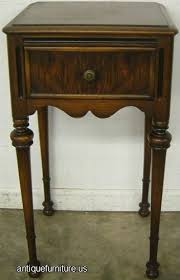antique burl walnut 1 drawer nightstand at antique furniture us