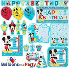 mickey mouse 1st birthday disney mickey mouse one 1st birthday party tableware decorations