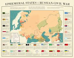 Ottoman Civil War Lived States Of The Russian Civil War Mapmania