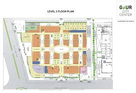gaur city centre in sector 4 greater noida commercial projects floor plan 2