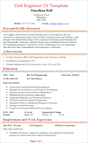 Resume For Civil Engineering Job by Civil Engineer Cv Template Tips And Download Cv Plaza